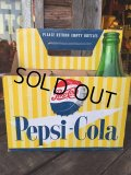 Vintage Soda 6-Pac bottles Cardboard carrying case / Pepsi (MA315)