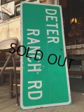 Vintage Road Sign DETER RANCH RD (MA343)