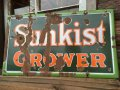 30s〜 Sunkist Orange Porcelain Sign (MA385)