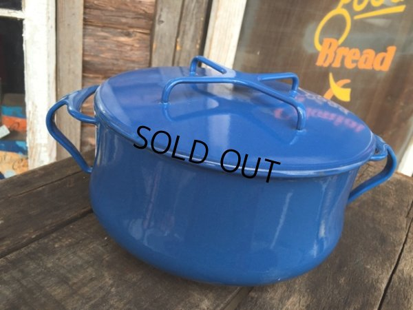 画像1: 60s Dansk Blue Enameled 2Quart Pots (MA386)