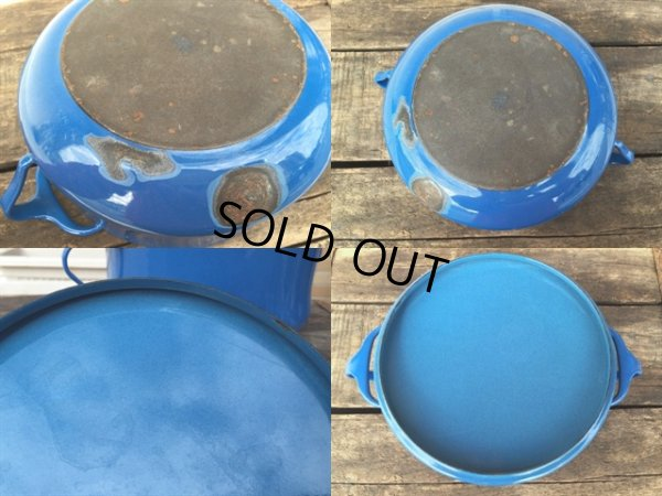 画像5: 60s Dansk Blue Enameled 2Quart Pots (MA386)