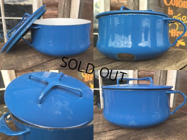 画像2: 60s Dansk Blue Enameled 2Quart Pots (MA386)