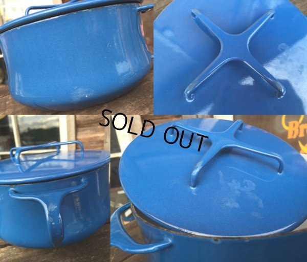 画像3: 60s Dansk Blue Enameled 2Quart Pots (MA386)