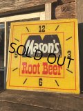 Junk Sale Vintage MASON'S ROOT BEER Pam Clock Sign (MA413)