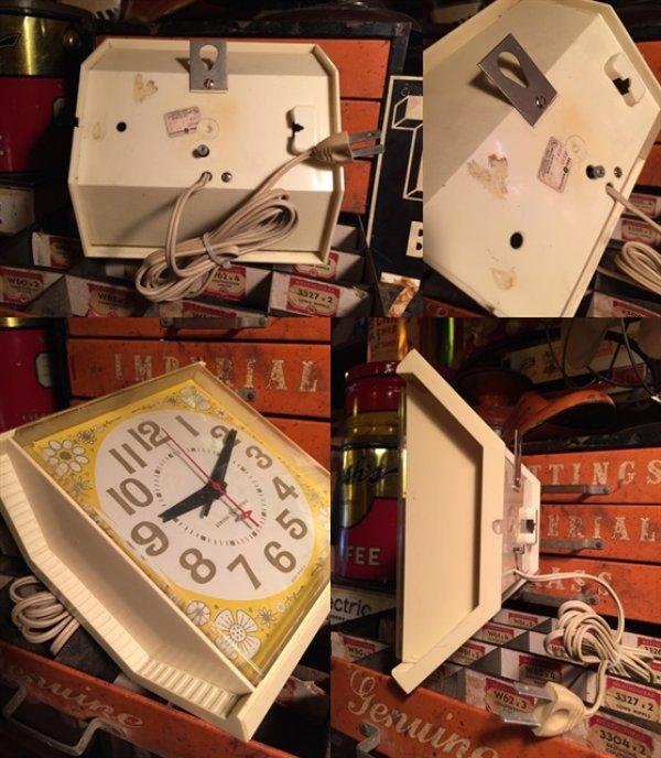 画像3: Vintage GE Kitchen Wall Clock Flower (MA443)