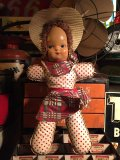 Vintage Cow Girl  Celluloid Face Doll (PJ465)