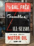 Vintage Gambles Motor Oil Can 2 1/2 GL (MA546)