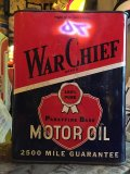 Vintage WAR CHIEF Motor Oil Can 2GL (MA592)
