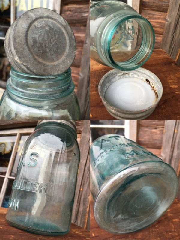 画像3: Vintage Atlas Strong Shoulder Masons Glass Jar (MA610)