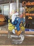 80s Vintage Glass Harmony Smurf (MA722)