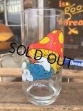 80s Vintage Glass Lazy Smurf (MA727)