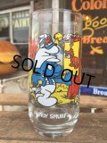 80s Vintage Glass Handy Smurf (MA723)