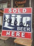 Vintage Sold Here Lite Beer Sign (MA812)