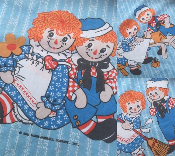 画像3: Vintage Raggady Ann & Andy Flat Sheet (MA817)