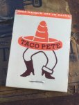 画像1: Vintage Matchbook TACO PETE (MA5737) (1)