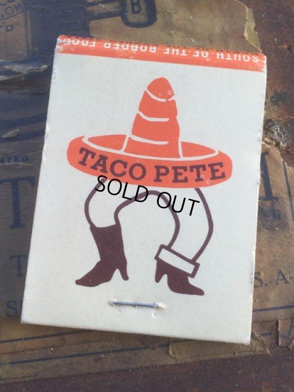 画像1: Vintage Matchbook TACO PETE (MA5737)