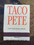 画像2: Vintage Matchbook TACO PETE (MA5737) (2)