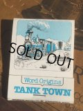 Vintage Matchbook TANK TOWN (MA5385)