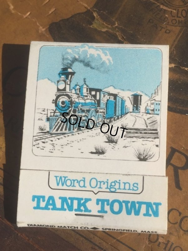 画像1: Vintage Matchbook TANK TOWN (MA5385)