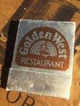 画像1: Vintage Matchbook Golden West Restaurant (MA5373) (1)