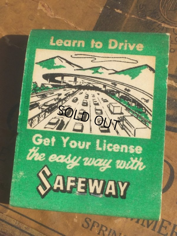 画像1: Vintage Matchbook SAFEWAY School of Driving (MA5394)