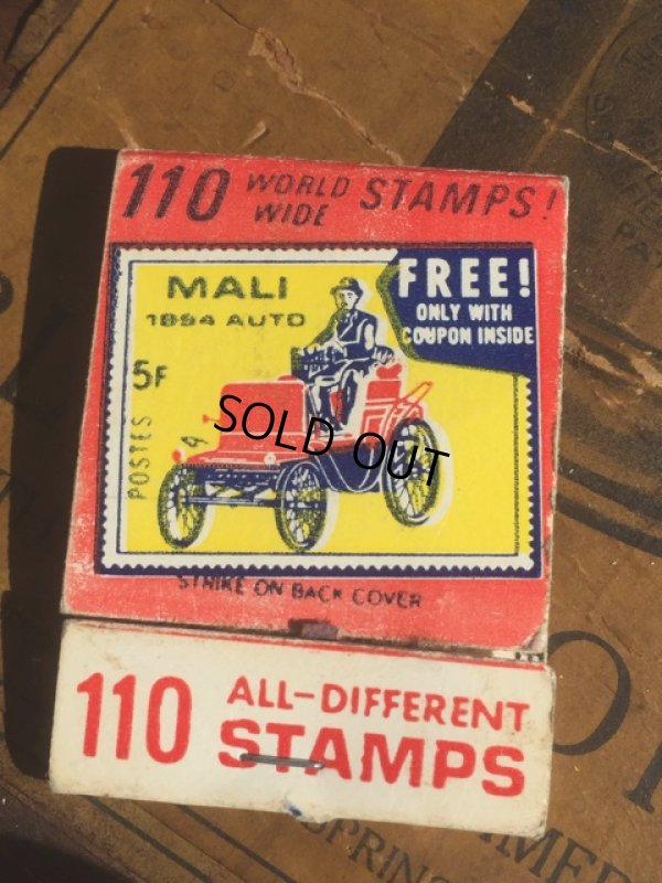 画像1: Vintage Matchbook 110 STAMPS (MA5379)