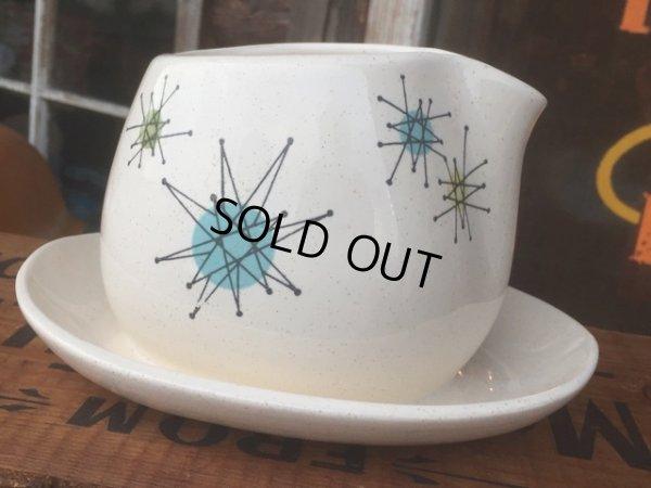 画像2: 50s Vintage Franciscan Starburst Gravy Bowl (AL032)