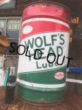 Vintage WOLF'S HEAD Drum Oil Can (AL047)