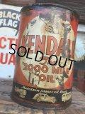 SALE Vintage Oil Can / Kendall The 2000 MILE OIL (AL073)