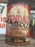 SALE Vintage Oil Can / Kendall The 2000 MILE OIL (AL072)