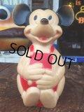 Vintage Disney Mickey Rubber Doll Bank (AL103)