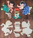画像4: 50s Vintage Dolly Toy Pin Ups Wall Decor Jack and Jill (AL177) (4)