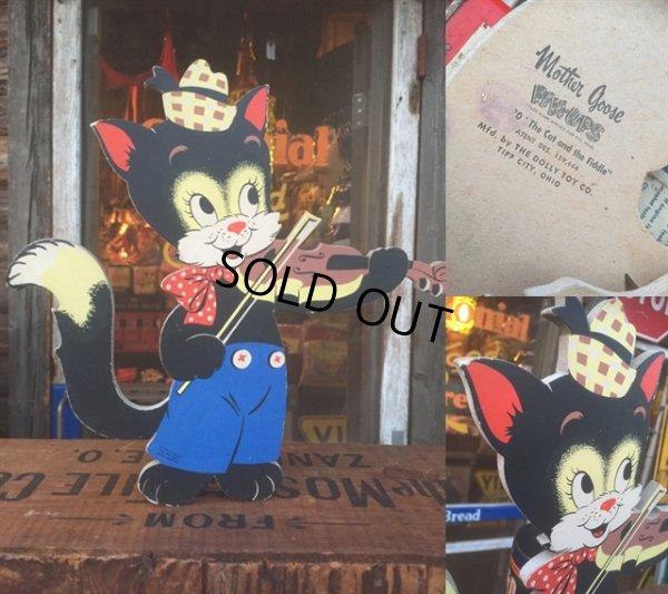 画像3: 50s Vintage Dolly Toy Pin Ups Wall Decor Cat and Fiddle (AL178)
