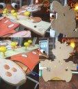 画像2: Vintage Dolly Toy Wall Decor Hanger Happy Bear (AL245) (2)