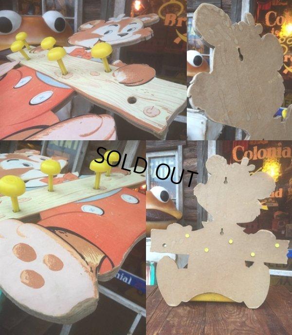 画像2: Vintage Dolly Toy Wall Decor Hanger Happy Bear (AL245)