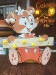 画像1: Vintage Dolly Toy Wall Decor Hanger Happy Bear (AL245) (1)