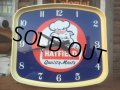 60s Vintage Hatfield Quality Meats Advertising Clock Sign (AL260)