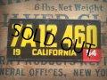 50s Vintage Bicycle License Plate 7A12 460 (AL275)