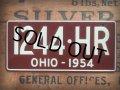 50s Vintage Bicycle License Plate 1244-HR (AL279)