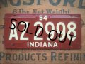 50s Vintage Bicycle License Plate AZ 2998 (AL284)