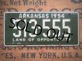 50s Vintage Bicycle License Plate 513-555 (AL285)