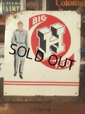 Vintage Steel Metal Sign HONEGGER'S BIG H FEED (AL293)