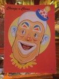 Vintage Card Bord Game Change-o-Clown (AL347)