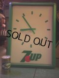 Vintage 7UP Lighted Sign Wall Clock (AL388)