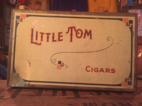 画像1: Vintage Little Tom Cigars Tabacco Tin Box (AL391)