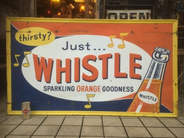 画像2: Vintage  Whistle Orange Soda Drink Embossed Sign (AL423)