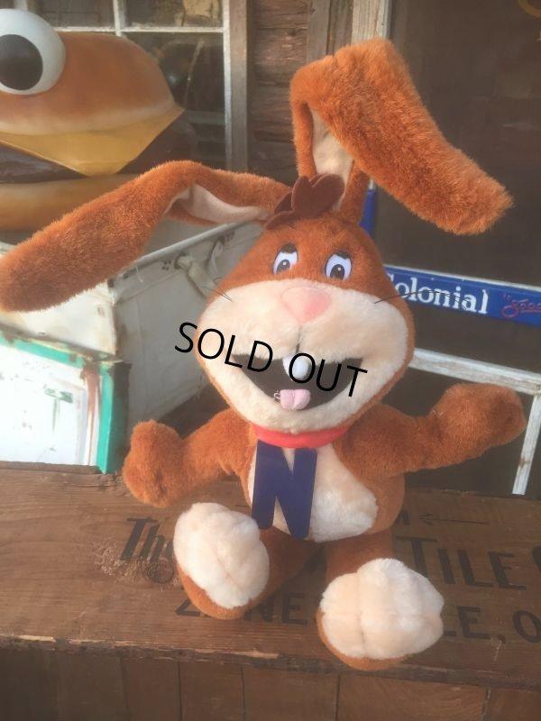 画像1: Vintage Nestle Nesquik Bunny Plush Doll (AL455)