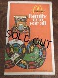 70s Vintage McDonalds Family Fun For all Booklet Humburglar (AL502)