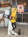 Vintage Planters Mr.Peanut Football Offer Cardbord Sign Sign (AL515)