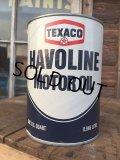 SALE! Vintage TEXACO HAVOLINE 1 Quart Motor Oil Can  (AL4200)